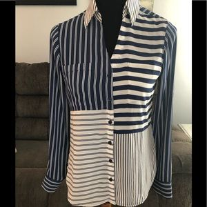 Beautiful Express striped button down Blouse